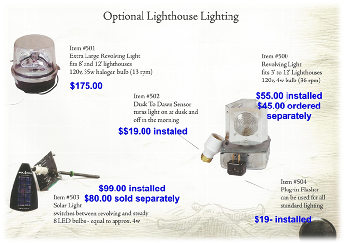 Optional Lighthouse Lighting